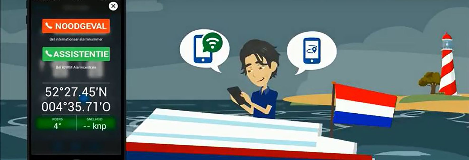Hoe werkt de KNRM helpt app