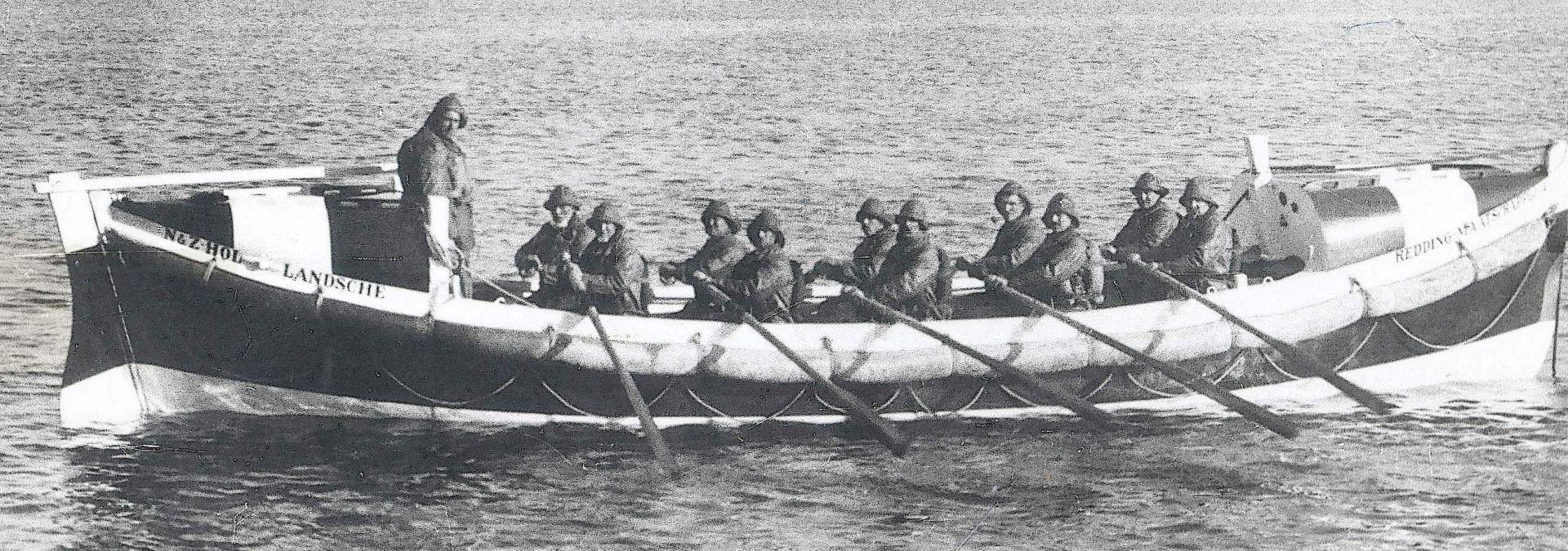 1910 KNRM zelfrichtende roeireddingboot Den Helder Dorus Rijkers | Foto:archief