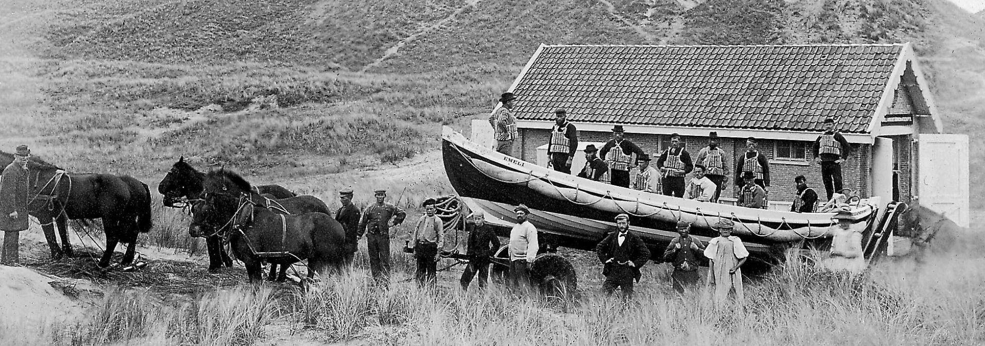 1920 KNRM roeiredders de Koog Texel| Foto: archief