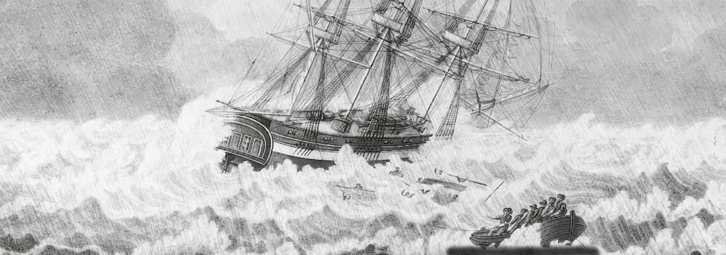 Gestrand schip  'De Vreede', 14 oktober 1824, Huisduinen