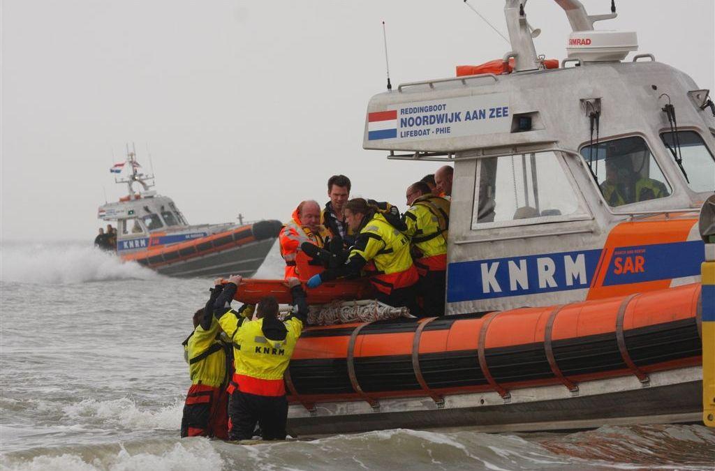 Reddingsactie KNRM Noordwijk