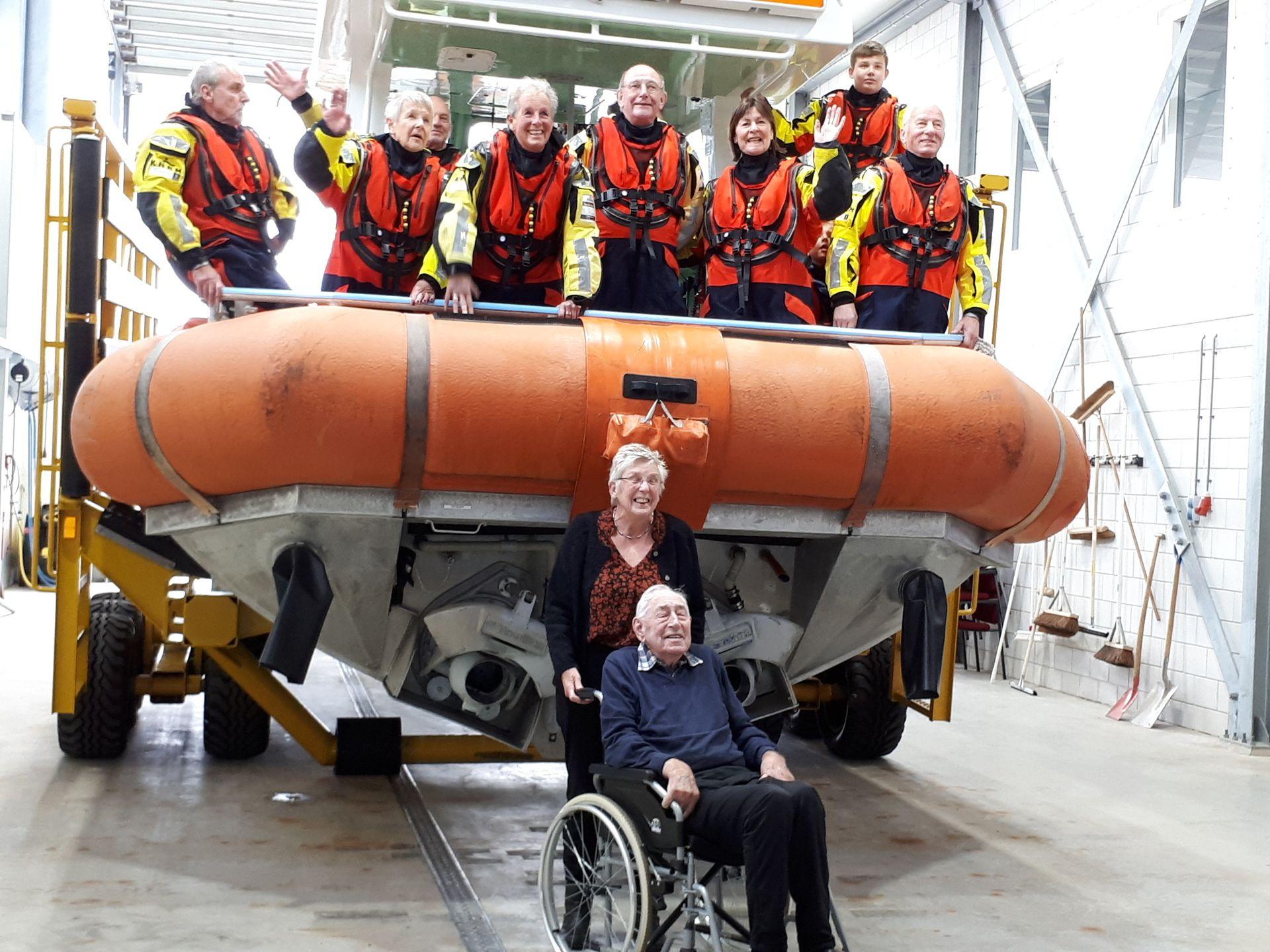 100 jarige oud-redder op donateursdag KNRM Texel - KNRM