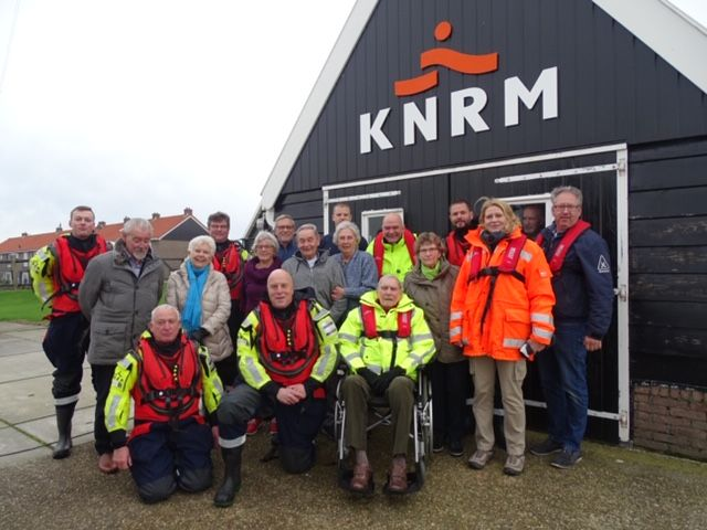 Ontvangst trouwe donateurs bij station Marken! - KNRM